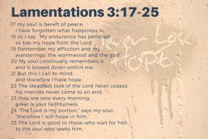 Lamentations 3:17-25