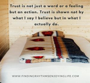 Trusting God quote