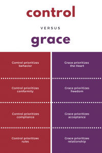 control versus grace contrast statements