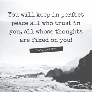 Isaiah 26:3 NLT