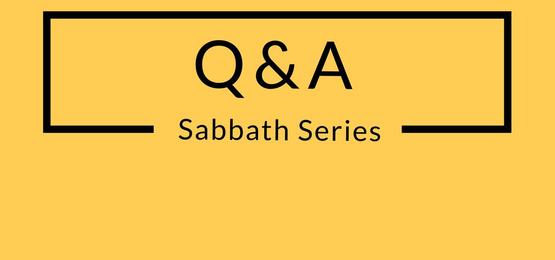Sabbath Q&A Header
