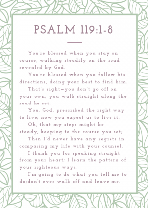 Psalm 119_1-8 Flower Design