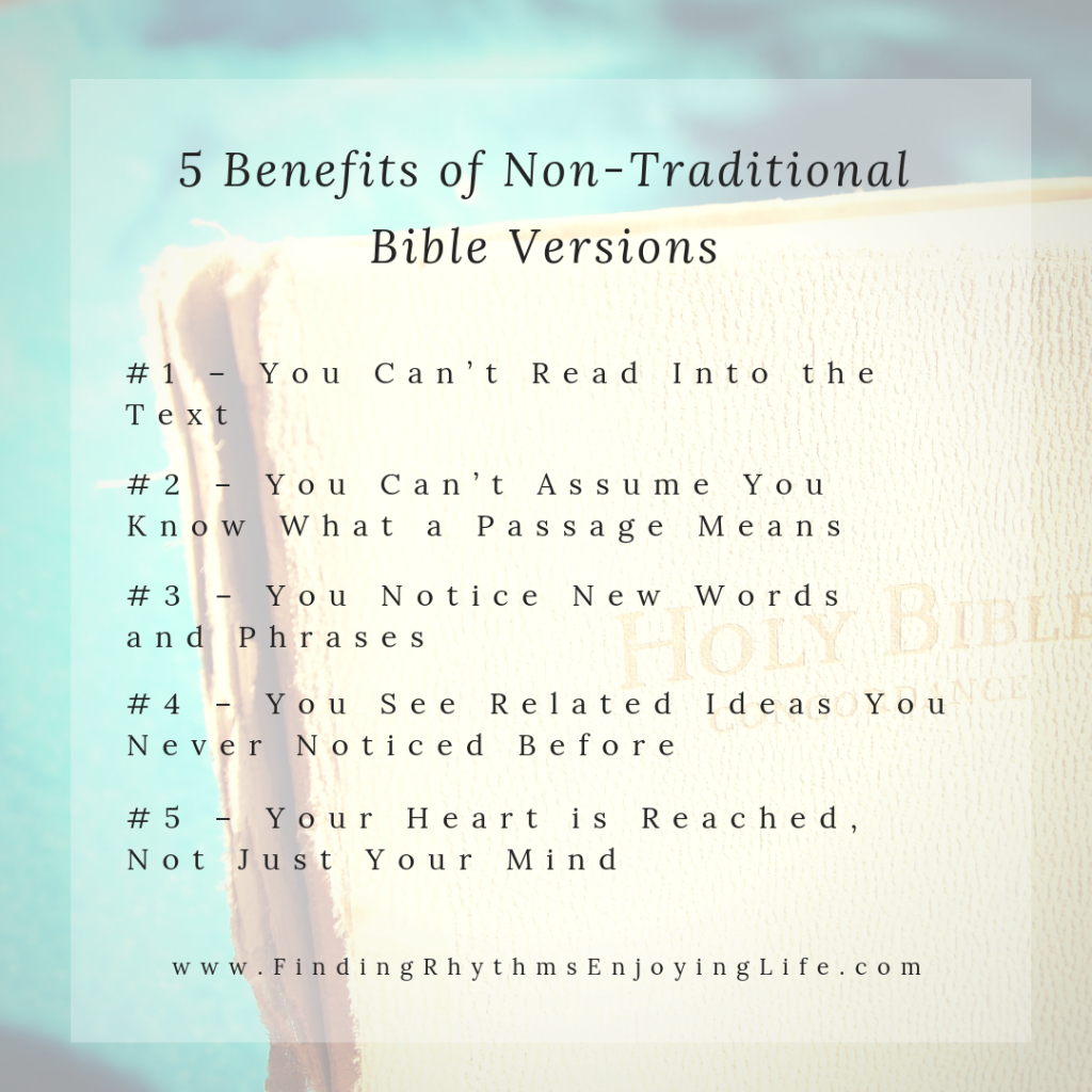 5 Benefits of Non-Traditional Bible Versions