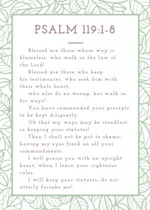 Psalm 119_1-8 ESV