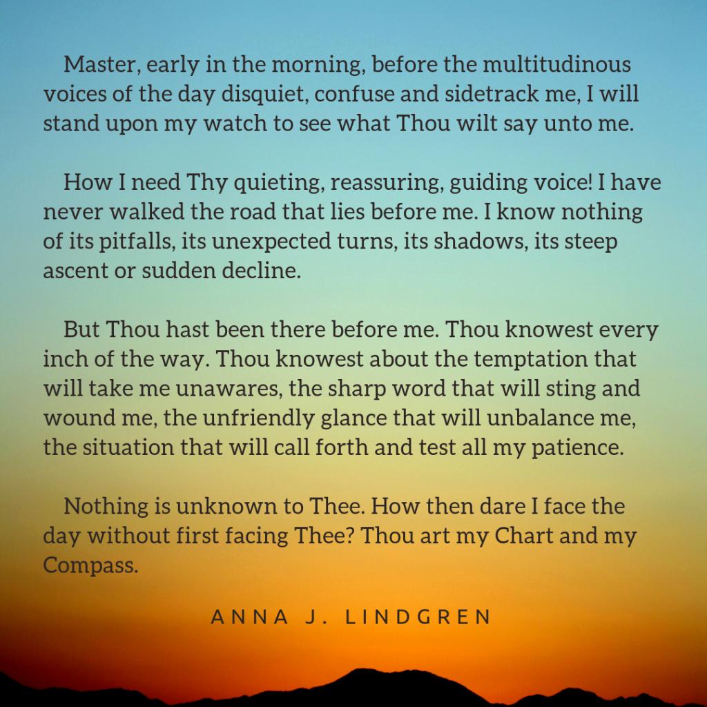 excerpt from a written meditation