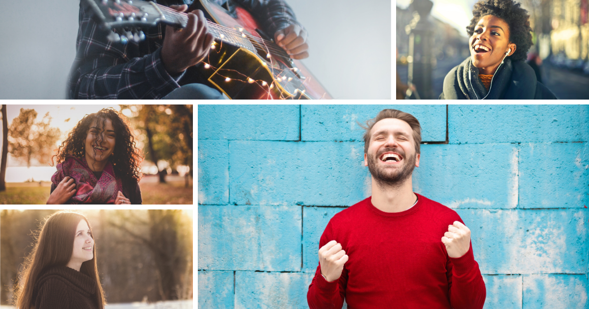 images of people showing joy