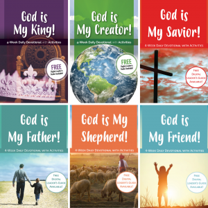 cover images of all six devotionals